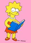 lisa simpson reading