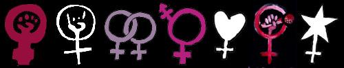 variaties op vrouwentekens