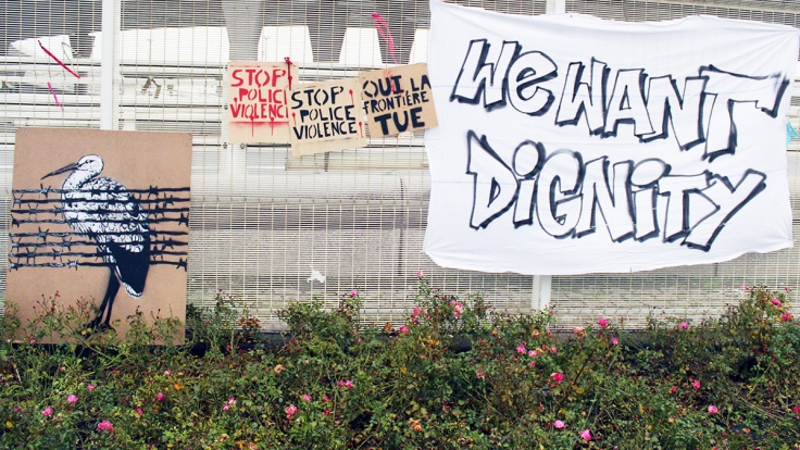 Stop police violence - we want dignity