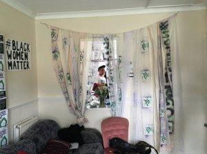 foto van bezettingsactie van Sisters Uncut in Londen