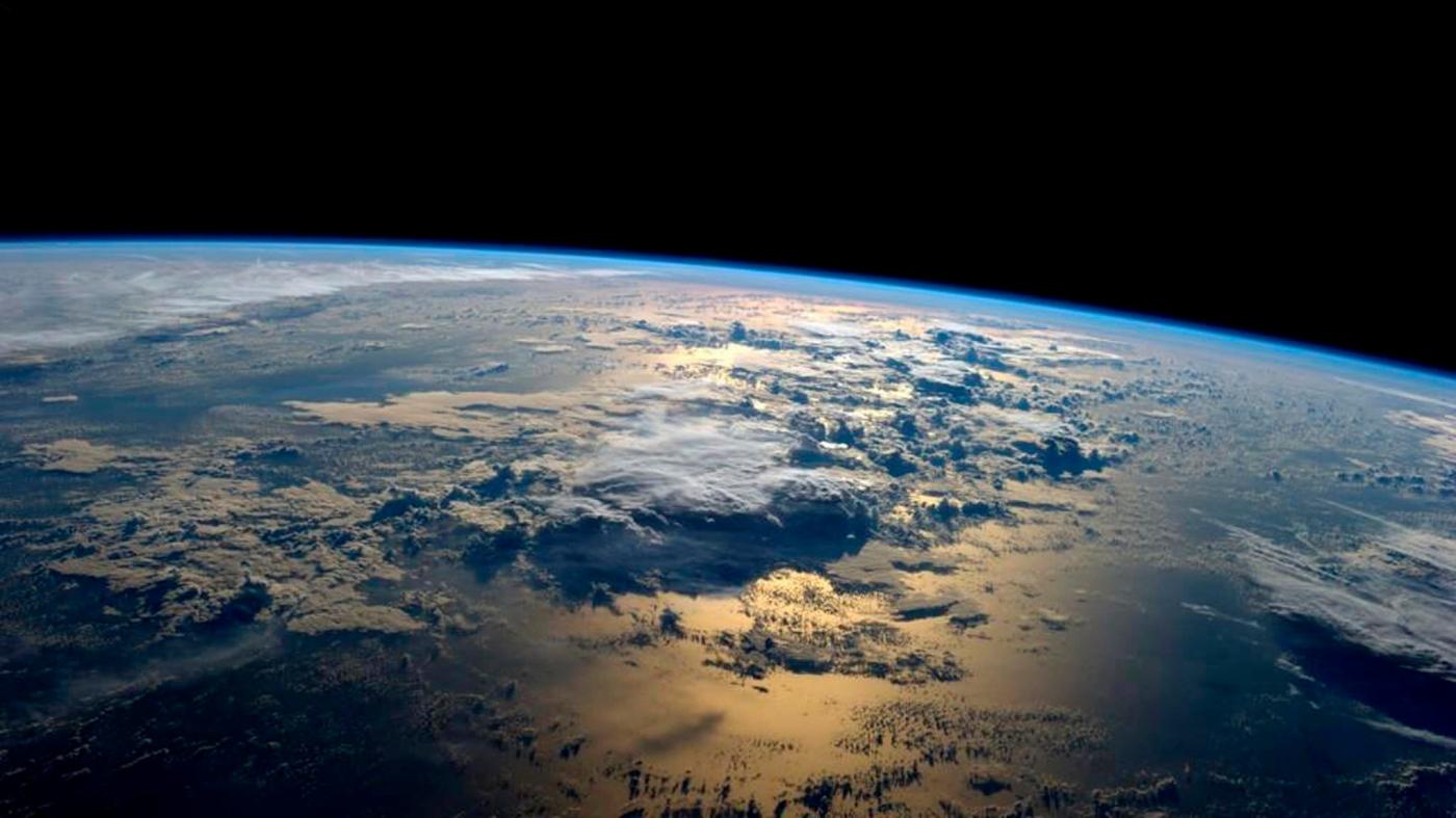 Een foto van de aarde genomen vanuit het International Space Station, 2014
